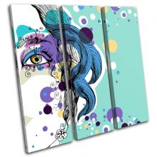 Abstract Girl Blue Fashion - 13-0223(00B)-TR11-LO